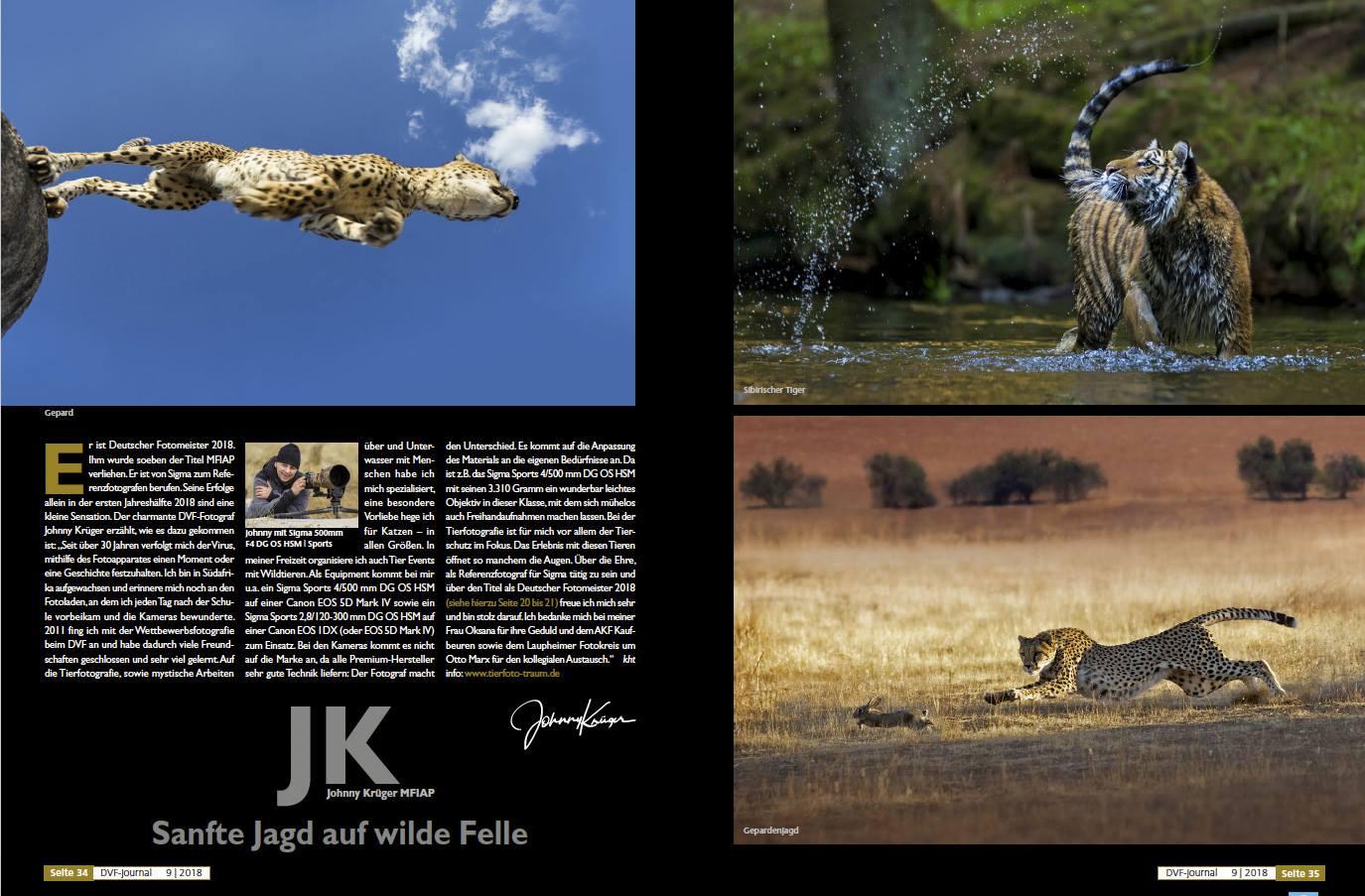 Bericht im Journal des Deutschen Verbands für Fotografie
